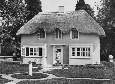 princess elizabeth stands in the doorway of y bwthyn bach 'the little cottage' in welsh, situated in the grounds of the royal lodge, windsor, june 1933 the cottage was a gift to the princesses from the people of wales photo by central presshulton archivegetty images