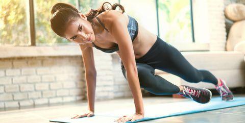 Arm, Physical fitness, Leg, Sportswear, Human leg, Stretching, Joint, Yoga mat, Knee, Thigh,