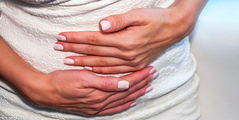 Hand, Skin, Stomach, Nail, Organ, Gesture, Abdomen, Close-up, Finger, Trunk,