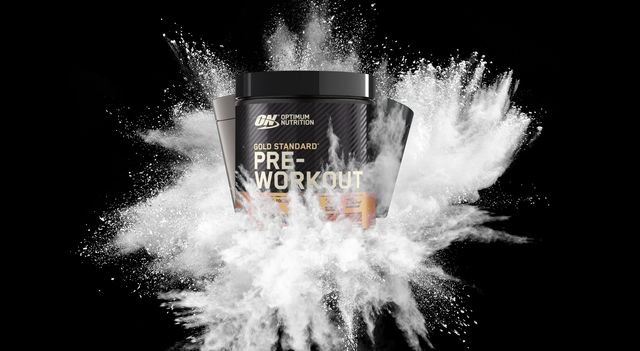 freeze motion of white powder explosions isolated on black background