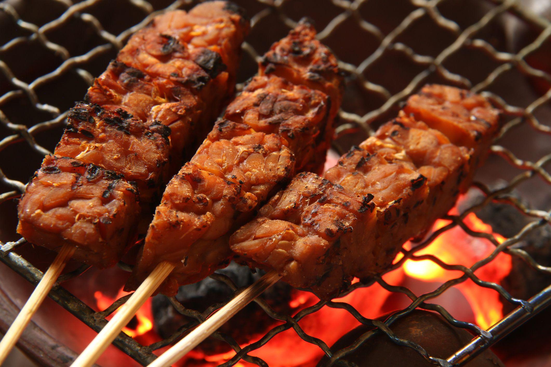 Sate Kere, the Popular Street Food of Tempeh Satay from Surakarta / Solo