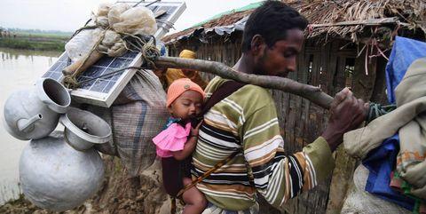 Rohingya refugee solar panel