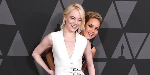 Governors Awards 2017 - Jennifer Lawrence and Emma Stone