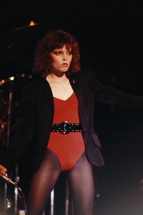 american singer pat benatar performs on stage, new york, 1982 photo by michael putlandgetty images