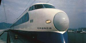 Shinkansen Sur La Ligne Tokaido Au Japon