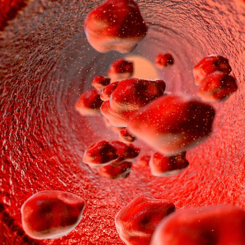 free flowing red blood cells