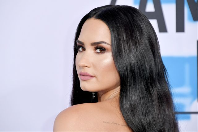 los angeles, ca   november 19  demi lovato attends the 2017 american music awards at microsoft theater on november 19, 2017 in los angeles, california  photo by neilson barnardgetty images