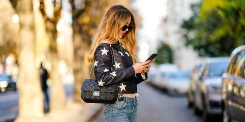 Street fashion, Clothing, Jeans, Shoulder, Jacket, Leather, Fashion, Leather jacket, Waist, Denim,