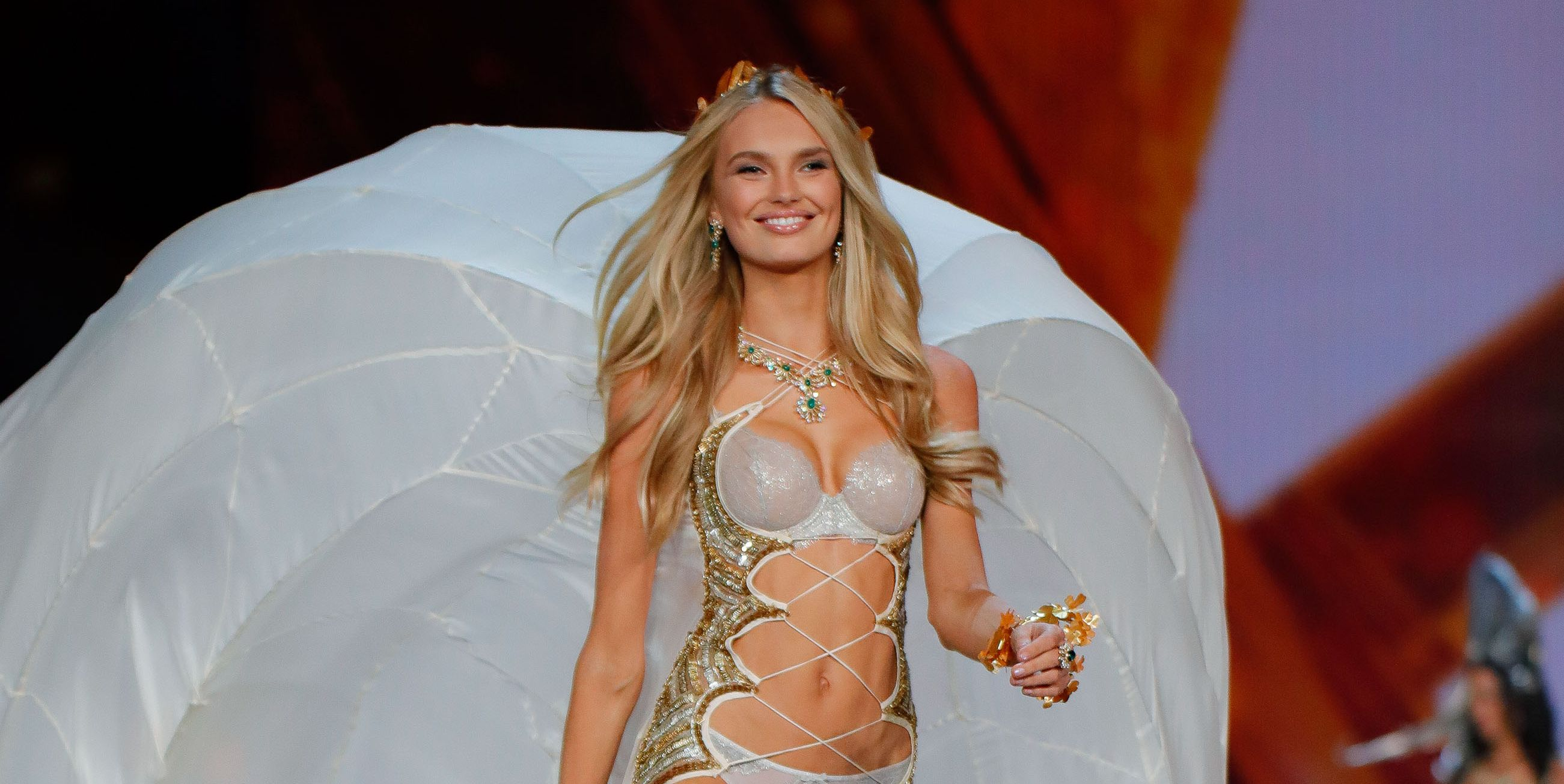 mary katrantzou victoria's secret romee strijd