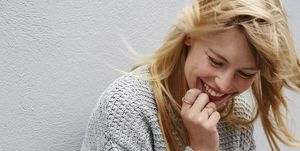 Laughing young lady
