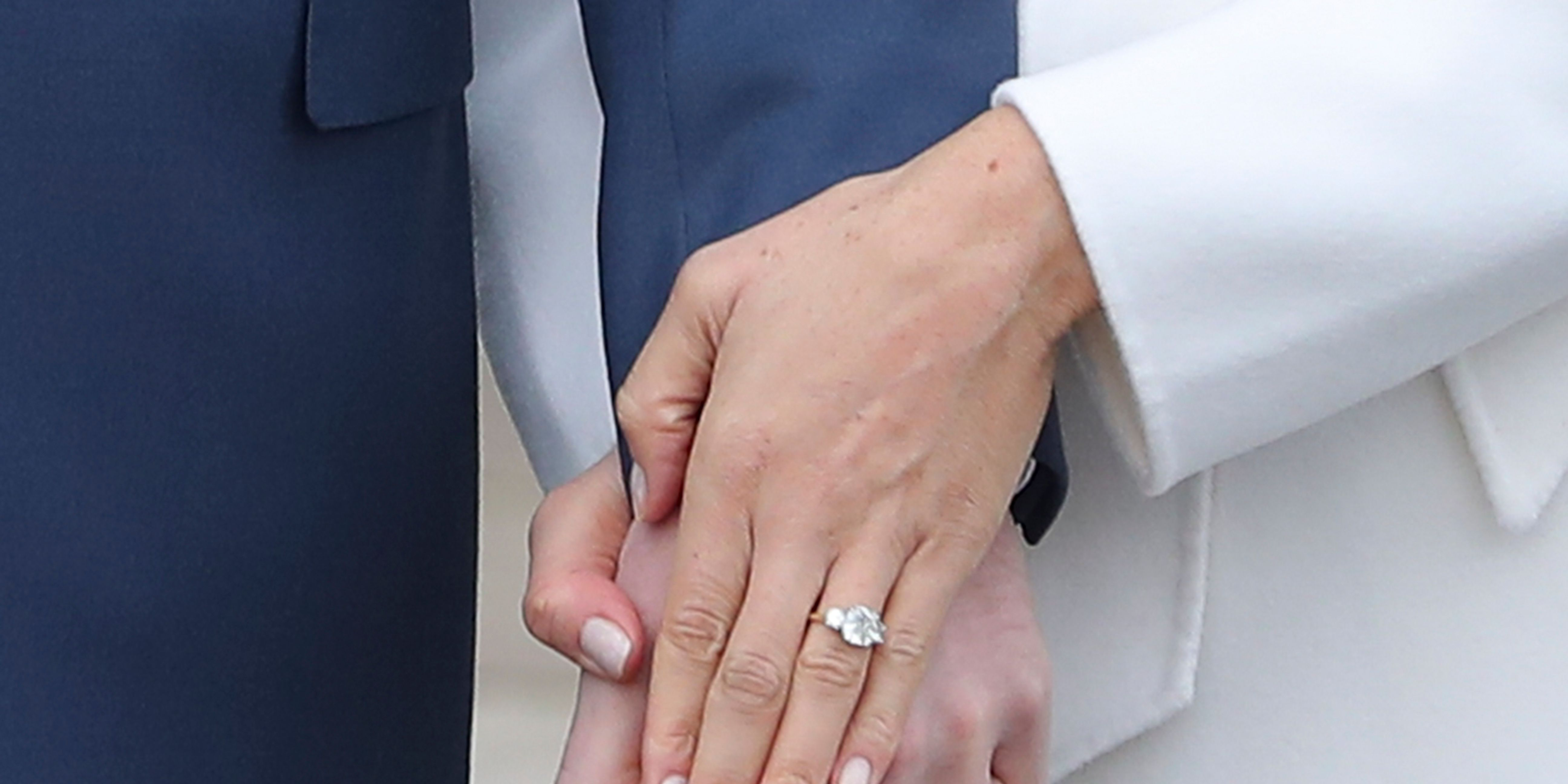 Meghan Markle engagement ring picture