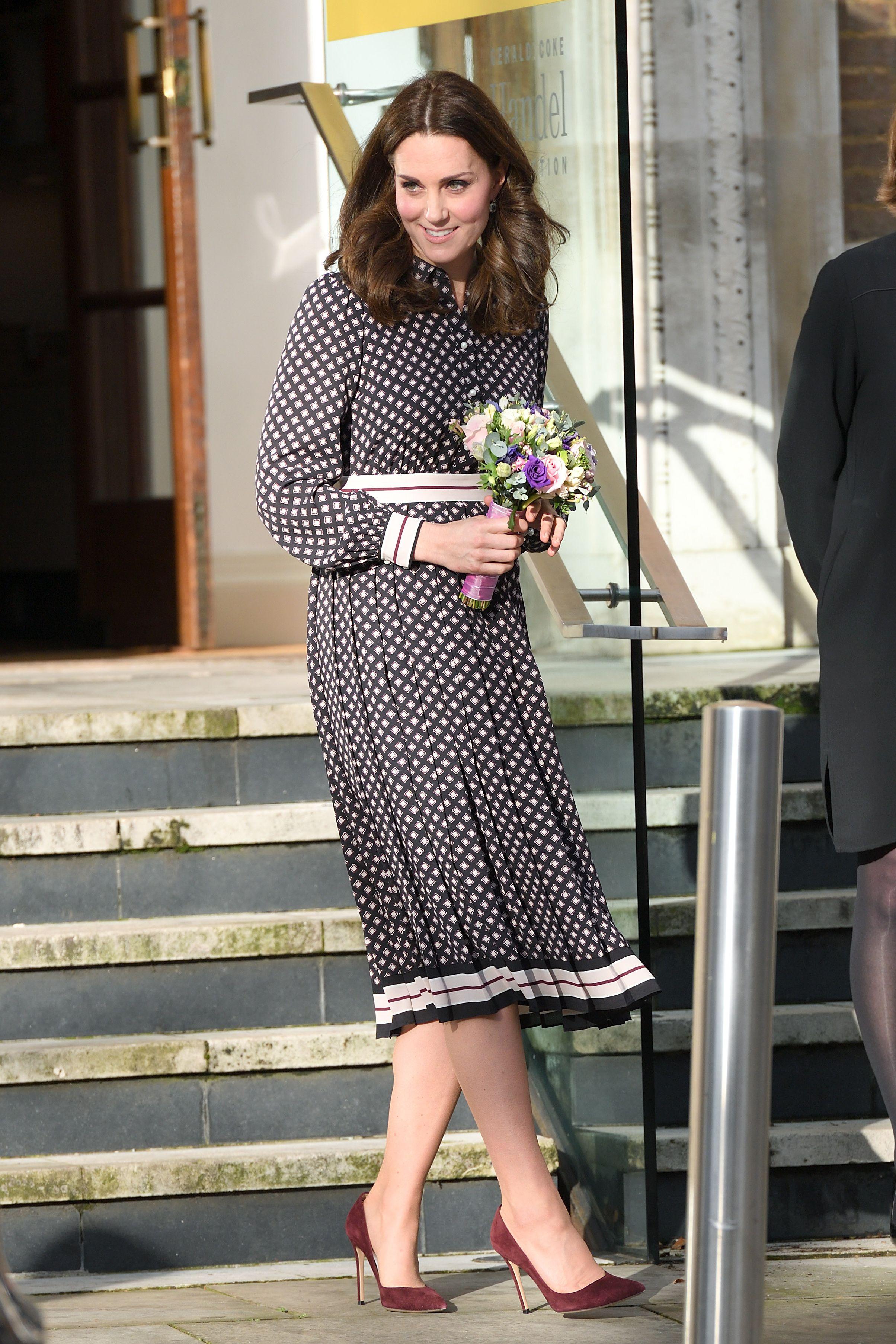 Kate Middleton wearing a Kate Spade design.