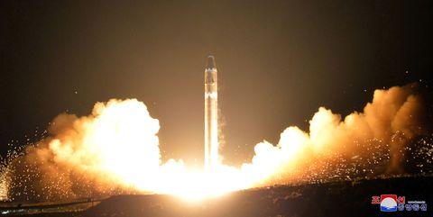 Hwasong-15 ICBM launch.