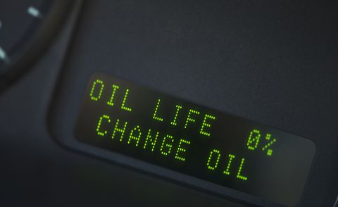 Close Up of Digital Oil Gauge