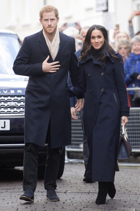 nottingham, england   december 01  prince harry and his fiancee, us actress meghan markle, visit nottingham for their first official public engagement together  on december 1, 2017 in nottingham, england  prince harry and meghan markle announced their engagement on monday 27th november 2017 and will marry at st georges chapel, windsor in may 2018  photo by jeremy selwyn   wpa poolgetty images