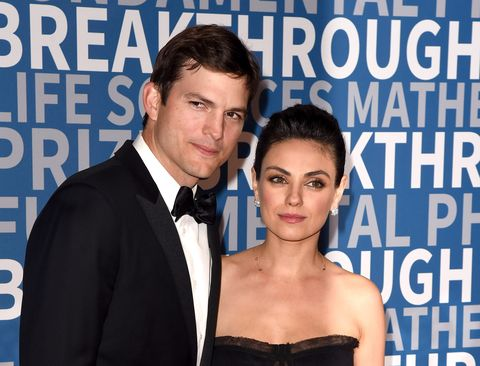 mountain view, ca   december 03  ashton kutcher and mila kunis attend the 6th annual breakthrough prize at nasa ames research center on december 3, 2017 in mountain view, california  photo by c flaniganfilmmagic