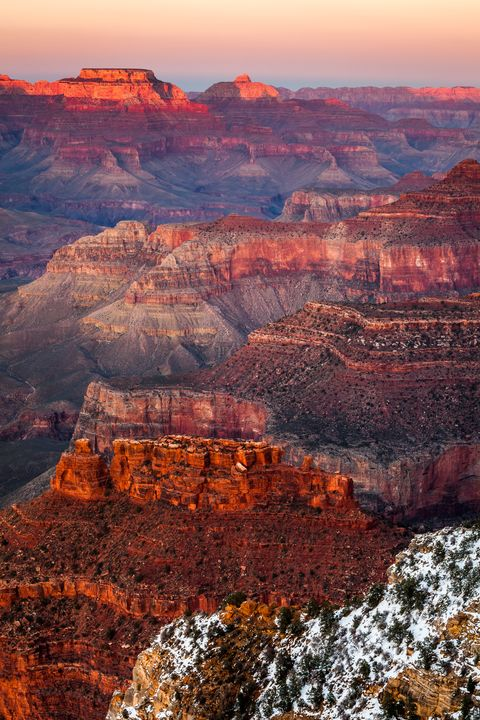 Aerial View Of Grand Canyon National Park During Sunset