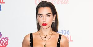 Dua Lipa attends the Capital FM Jingle Bell Ball with Coca-Cola at The O2 Arenaon December 9, 2017 in London