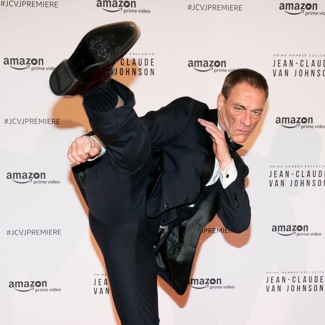 paris, france   december 12  actor jean claude van damme attends the amazon tv series 'jean claude van johnson' premiere at le grand rex on december 12, 2017 in paris, france  photo by marc piaseckigetty images