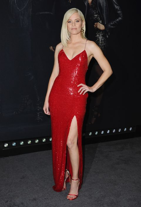 Clothing, Dress, Shoulder, Red, Leg, Fashion model, Thigh, Lip, Cocktail dress, Beauty,