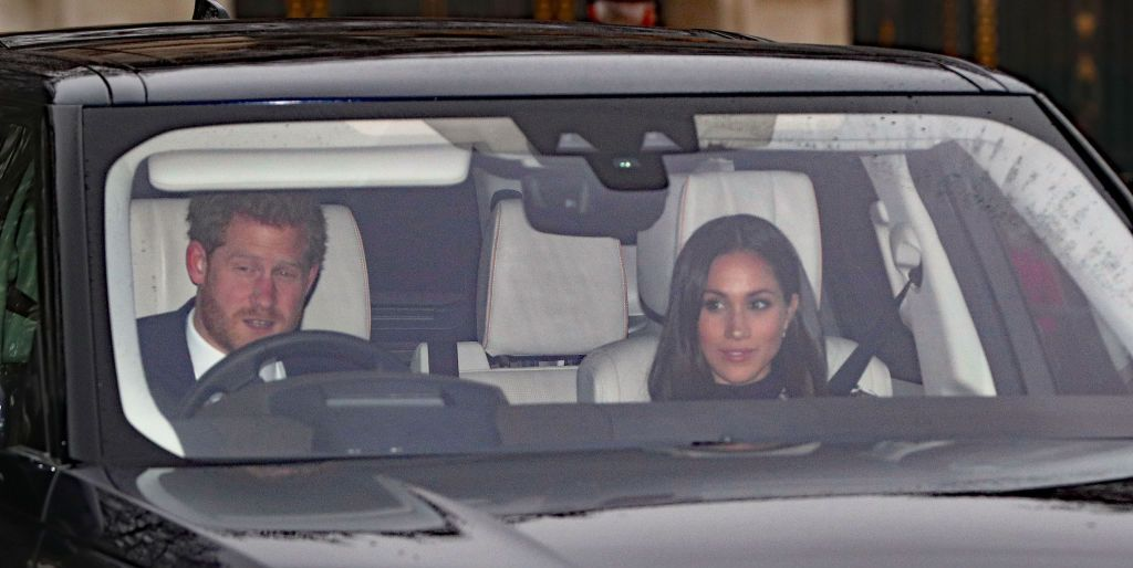 Prince Harry and Meghan Markle attend Christmas lunch