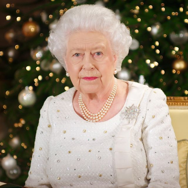 london, united kingdom   in this undated image supplied by sky news, queen elizabeth ii sits at a desk in the 1844 room at buckingham palace, as she records her christmas day broadcast to the commonwealth at buckingham palace, london  photo by sky news via getty images