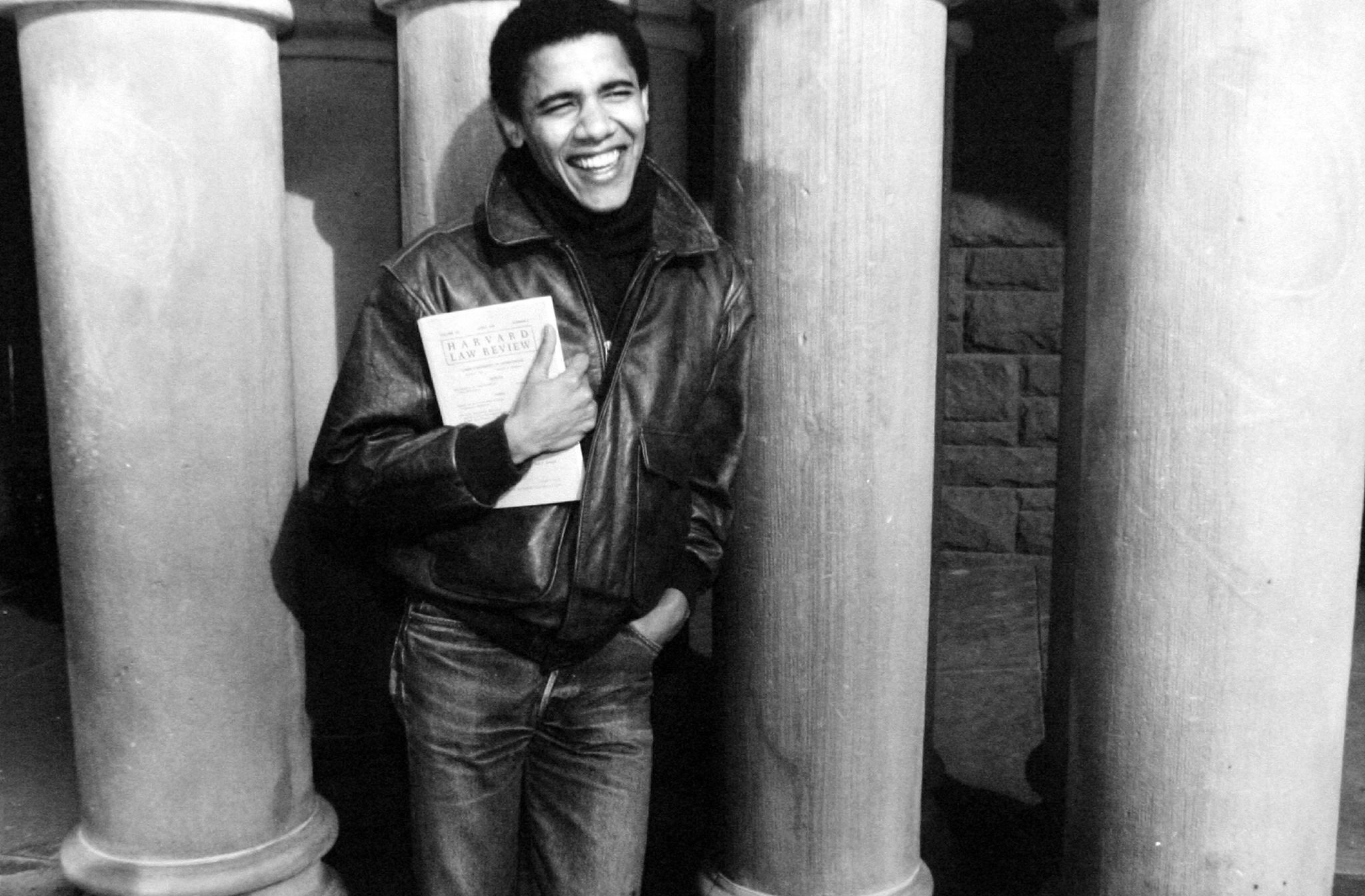 Obama as a Harvard student in the '90s.