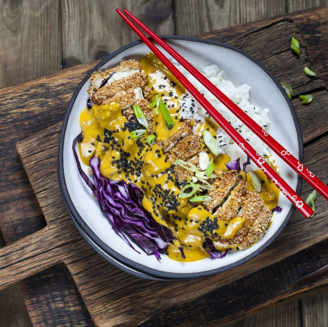 katsu curry with chicken escalope