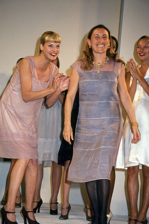 Miuccia Prada at MiuMiu Show, Bryant Park, New York - 1993