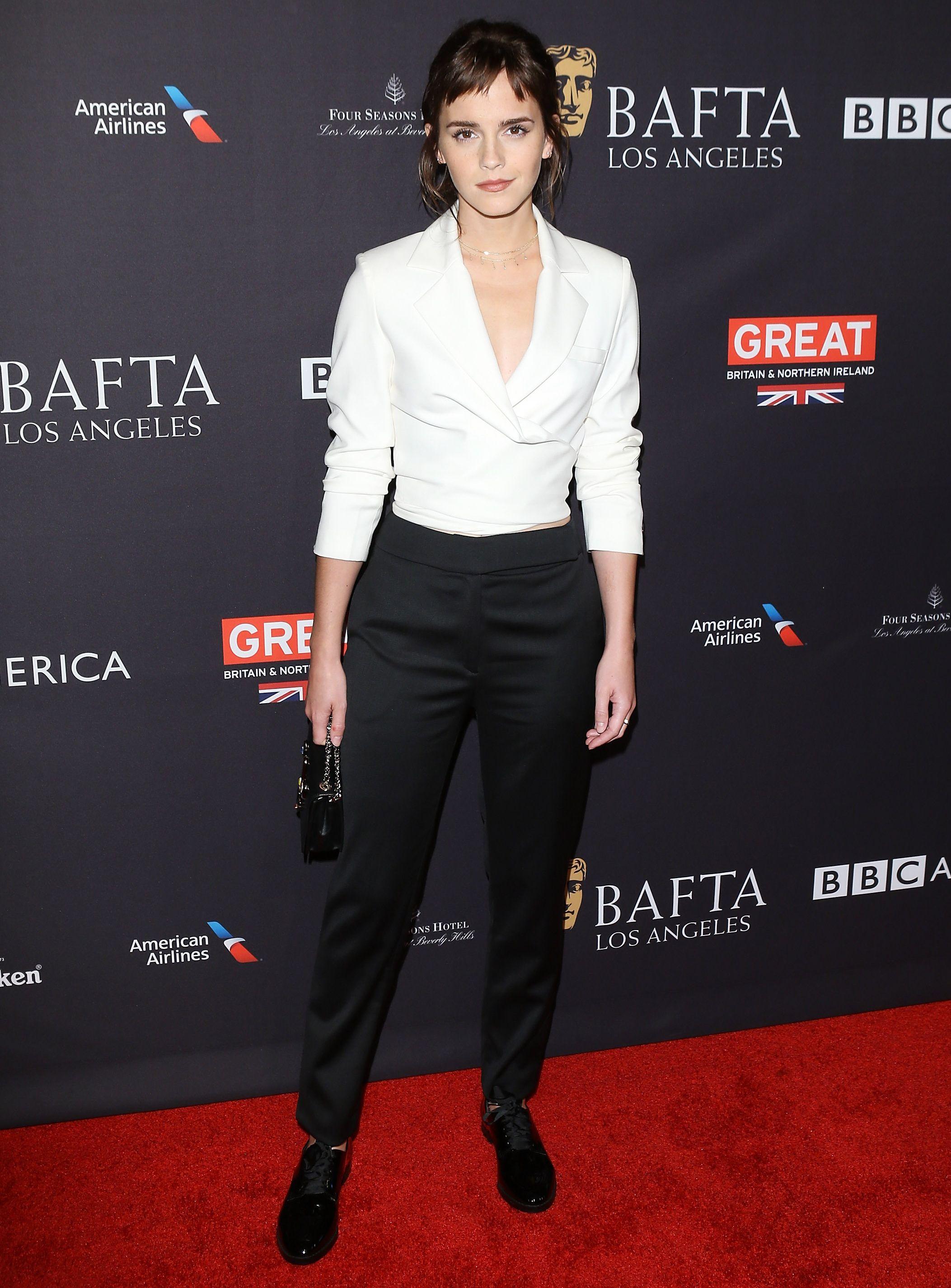 Emma Watson new hair - BAFTA LA tea party