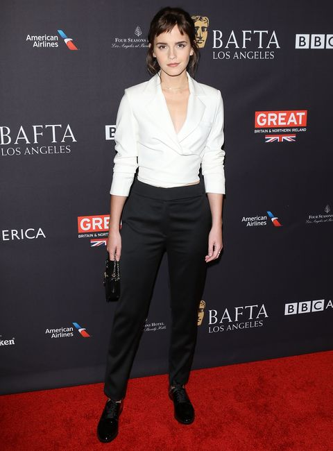 Emma Watson new hair - BAFTA LA tea party