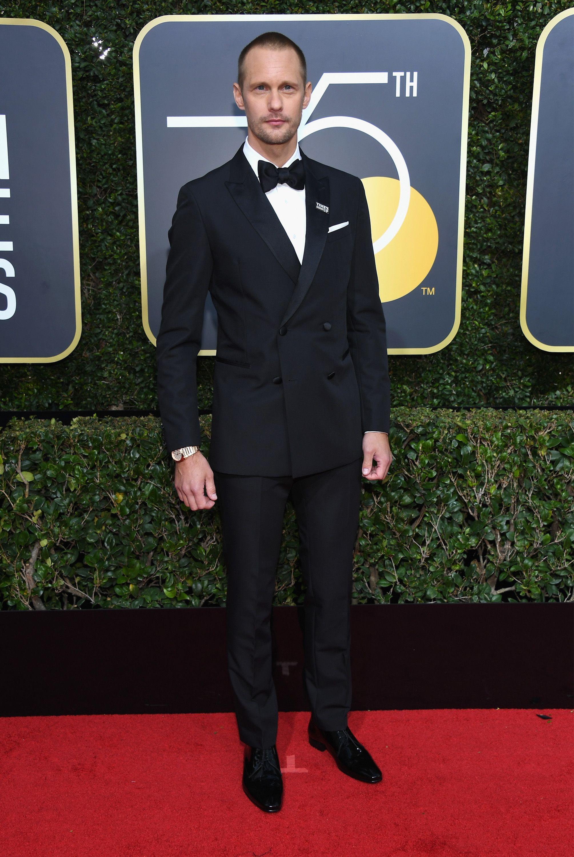 Alexander Skarsgård globos de oro 2018 alfombra roja