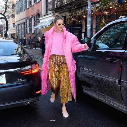 Street fashion, Pink, Vehicle, Fashion, Car, Luxury vehicle, Snapshot, Vehicle door, Mid-size car, Automotive design,