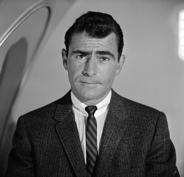 rod serling in odyssey of flight 33, episode 18, season 2 of cbs science fiction television series, the twilight zone, october 24, 1960 photo by cbs photo archivegetty images