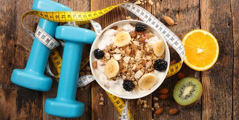 Food, Dish, Ingredient, Cuisine, Meal, Breakfast, Breakfast cereal, Granola, Vegetarian food, Smoothie,