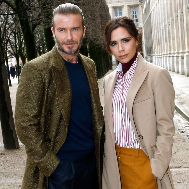 paris, france   january 18  david beckham and his wife victoria beckham attend the louis vuitton menswear fallwinter 2018 2019 show as part of paris fashion week on january 18, 2018 in paris, france  photo by bertrand rindoff petroffgetty images