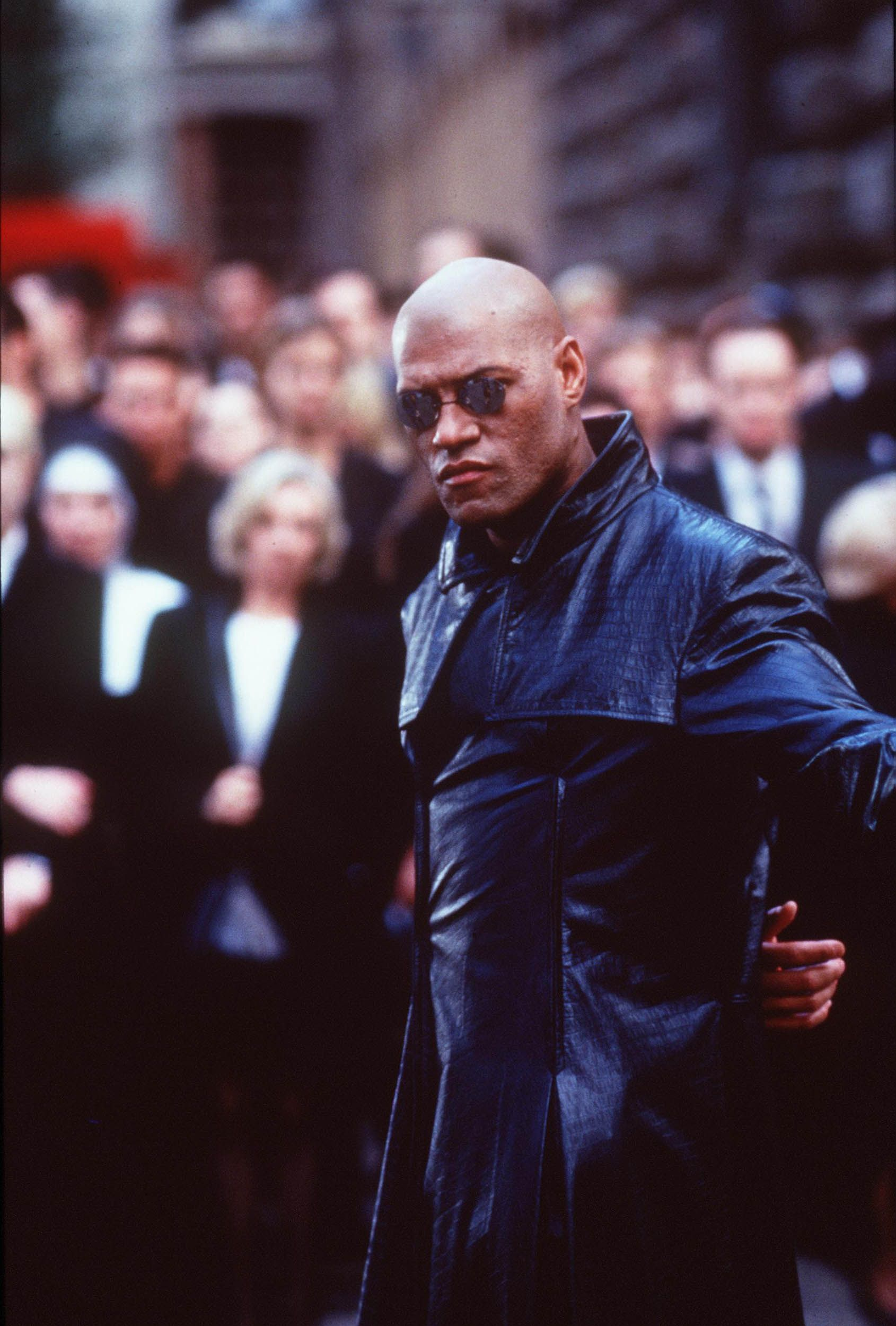 Laurence Fishburne in the 1999 film The Matrix .