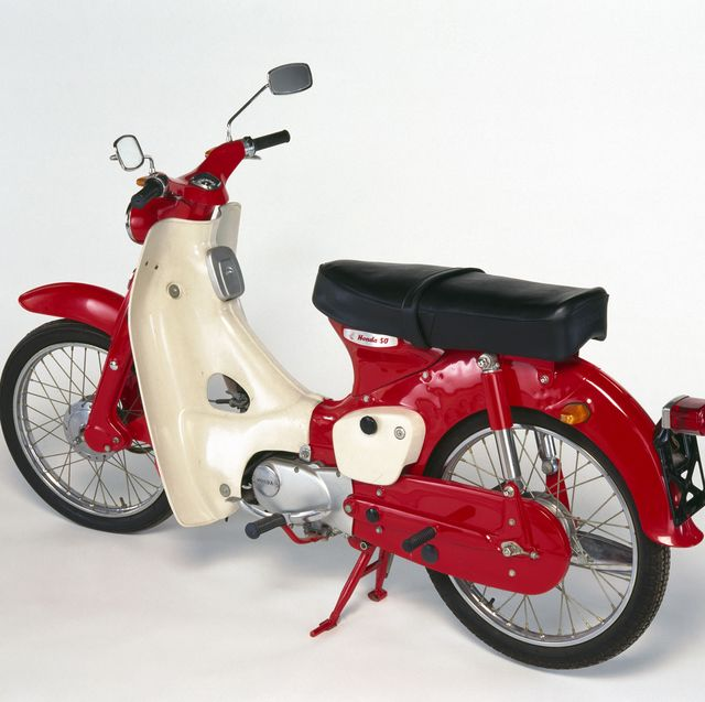 Honda C50 motorcycle, 1965.