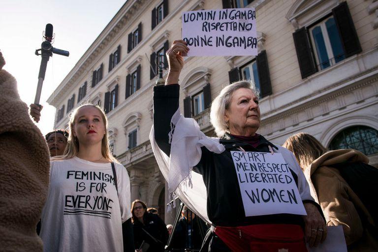 women's march 2018, women's march rome