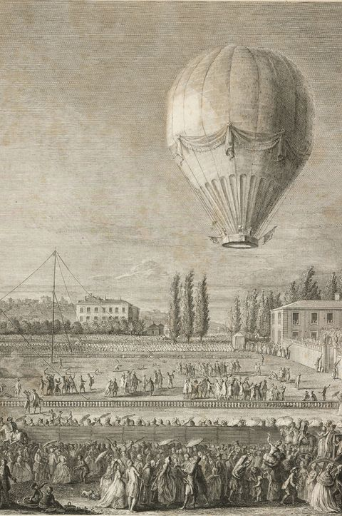 Hot air balloon, Airship, Aerostat, Stock photography, Illustration, Vehicle, Art, History,