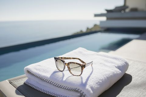 Eyewear, Glasses, Vision care, Sunglasses, Furniture, Personal protective equipment, Table, Napkin, Vacation,