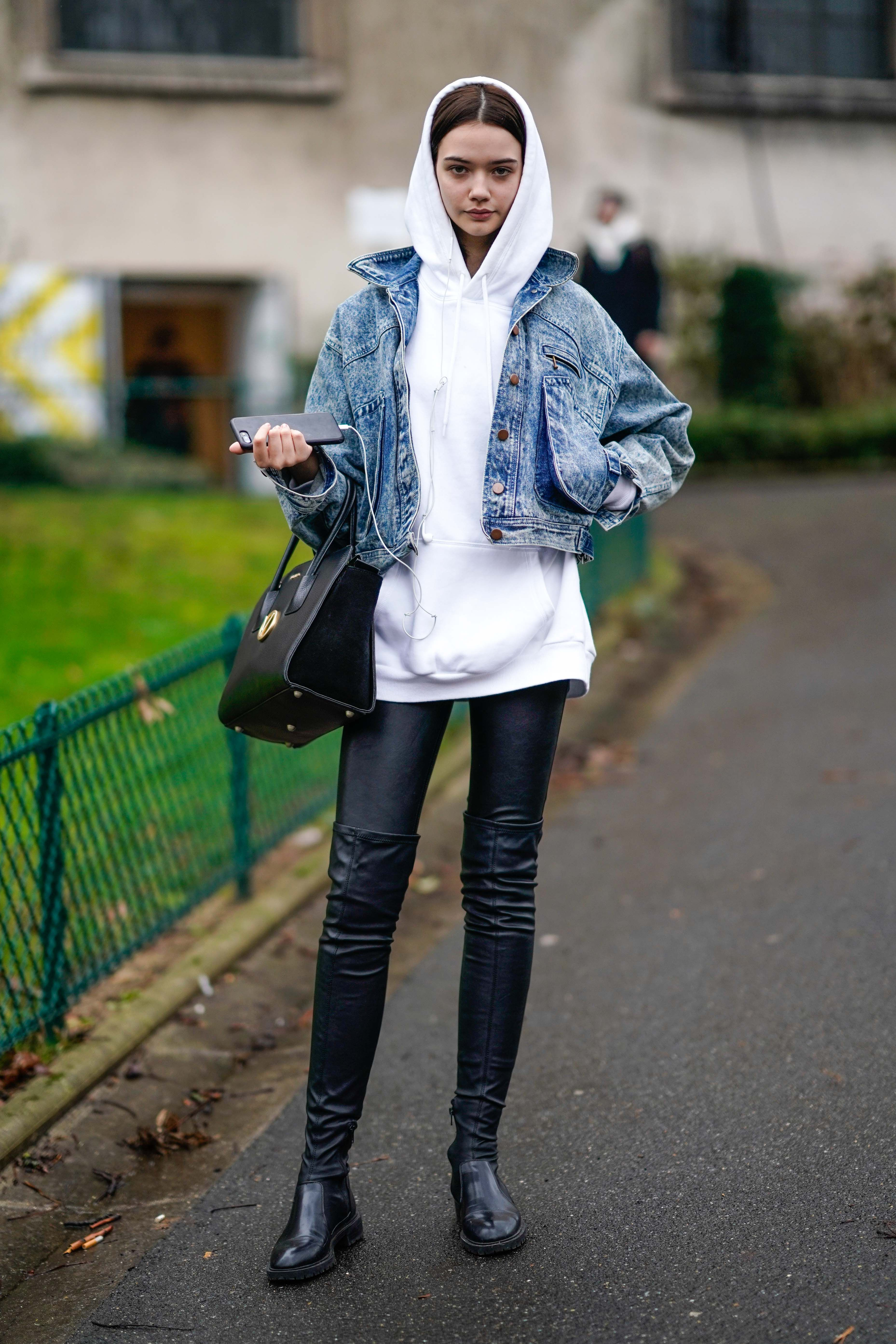 Layered Up When layering feels like a second job, sometimes all you want to do is throw on a pullover. Take it to the next level by adding some denim over it and you've miraculously become a street style star overnight.