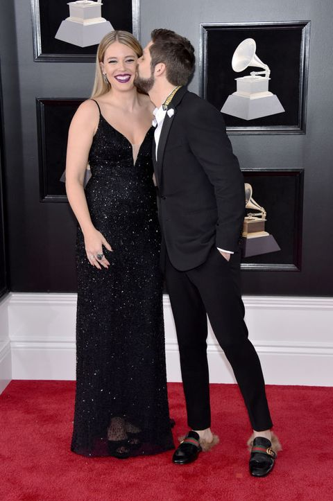 couples red carpet grammy