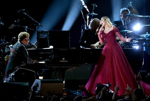 "Watch Miley Cyrus and Elton John's Spectacular Grammys 2018 ""Tiny Dancer"" Duet"