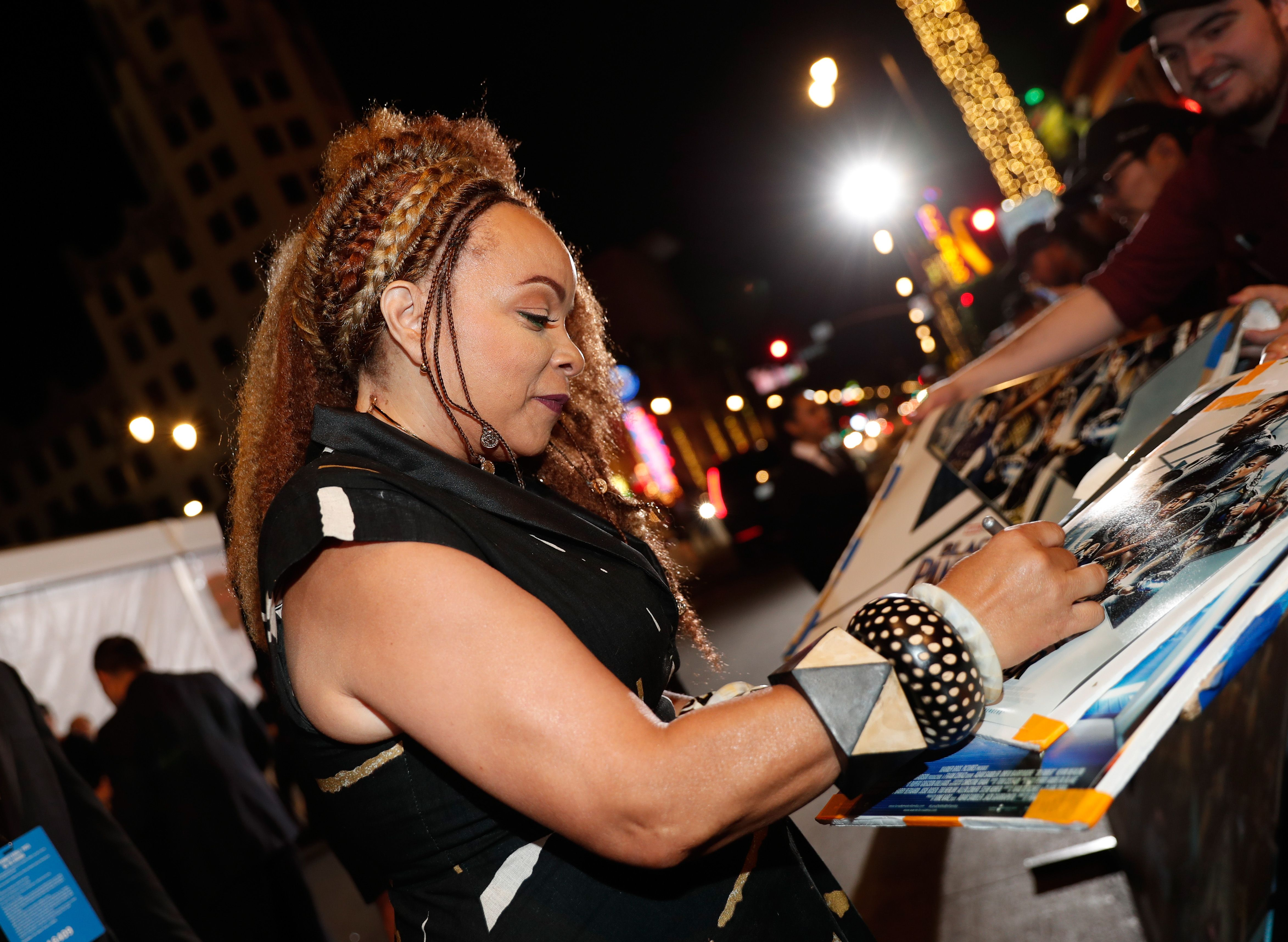 Ruth Carter at the Los Angeles premiere of Black Panther