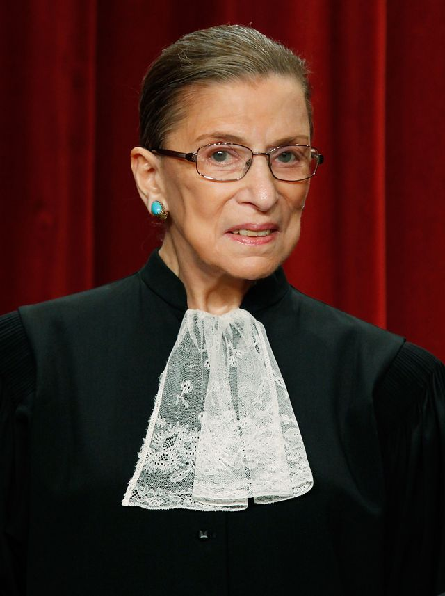 washington   september 29 associate justice ruth bader ginsburg poses during a group photograph at the supreme court building on september 29, 2009 in washington, dc the high court made a group photograph with its newest member associate justice sonia sotomayor    photo by mark wilsongetty images