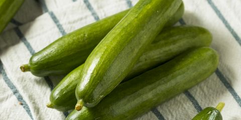 raw green organic persian cucumbers