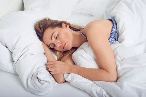 Woman sleeping after taking zimovane tablets