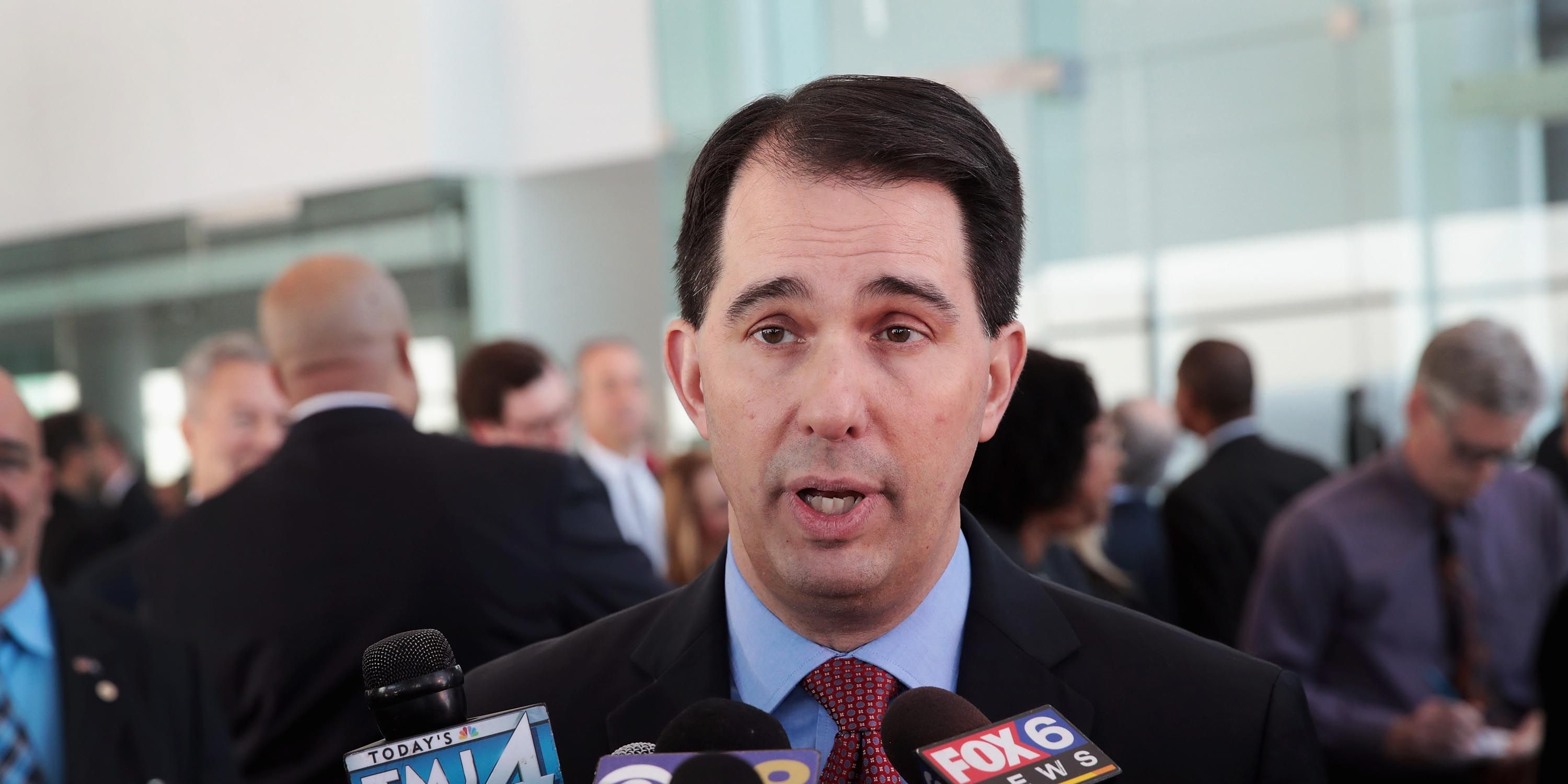 Wisconsin Governor Scott Walker Attends Foxconn's Announcement Of Milwaukee Investment