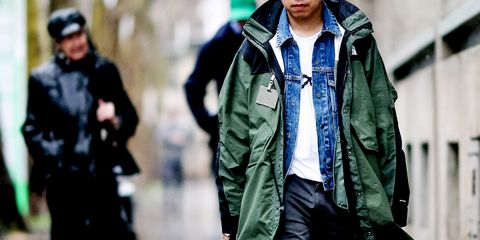 Clothing, Jacket, Outerwear, Street fashion, Fashion, Coat, Parka, Human, Overcoat, Fur,